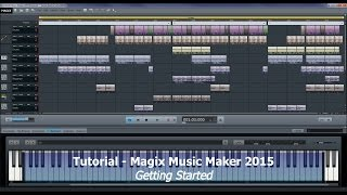 Tutorial 010 Magix Music Maker 2015 Premium - Getting started - A few tips