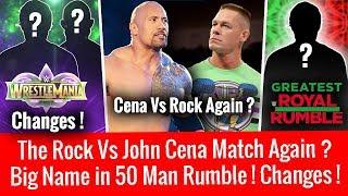 download musica Wrestlemania 34 Plan Changes The Rock Vs John Cena ? Big Superstar in 50 Man Royal Rumble Match