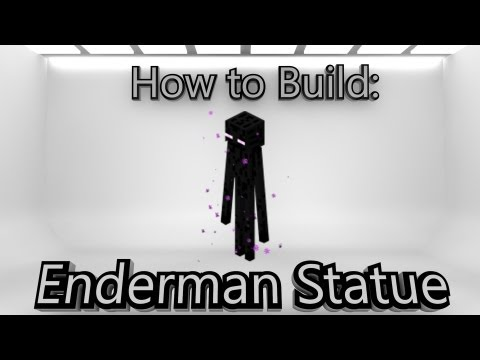 Minecraft: How To Make An Enderman Statue