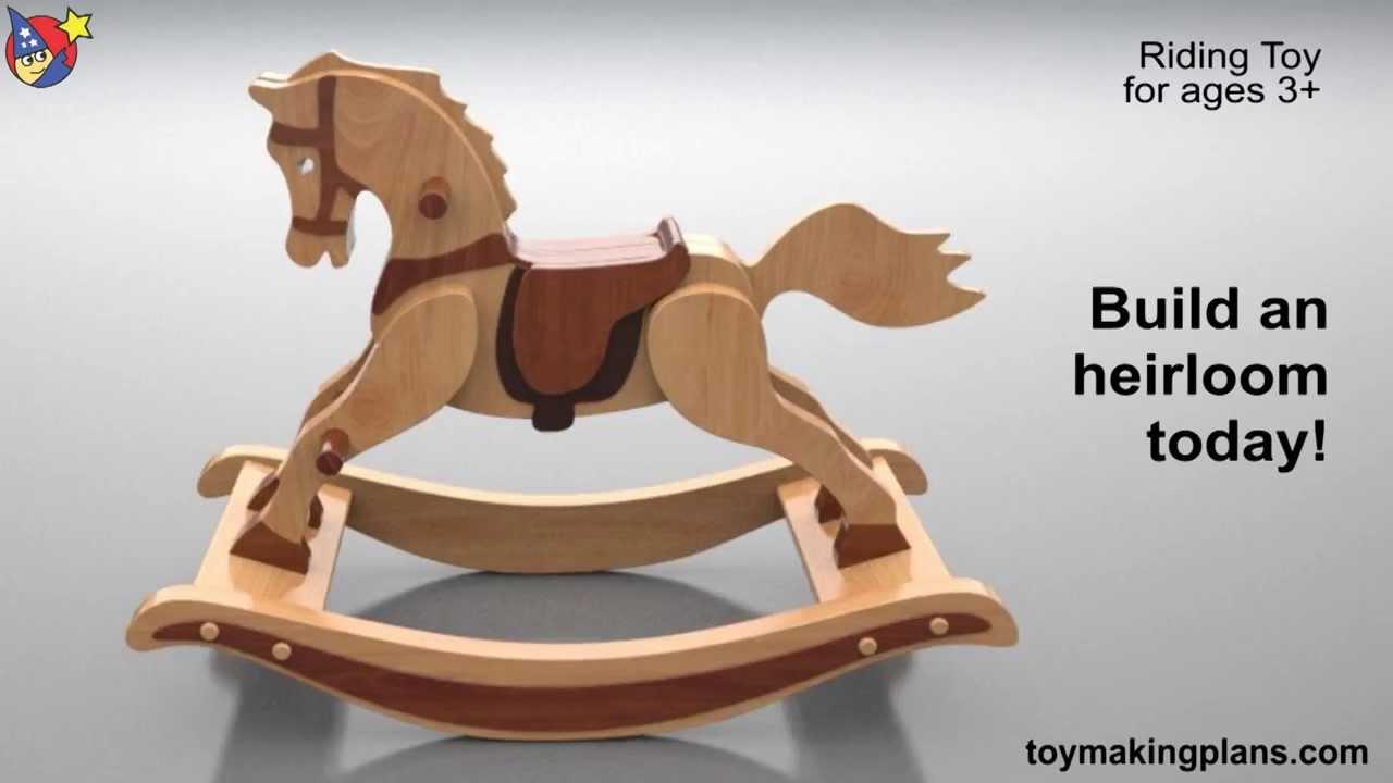 Wood Toy Plans Antique 1890 Rocking Horse YouTube