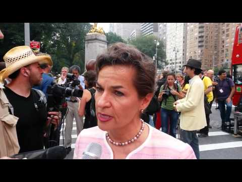 New York climate march: UN climate chief Christiana Figueres