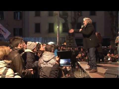 Tappa Livornese dello Tsunami Tour di Beppe Grillo