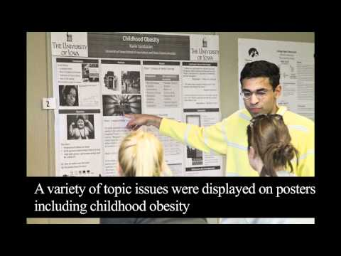 Screenshot of Media and Health Poster Session Youtube video