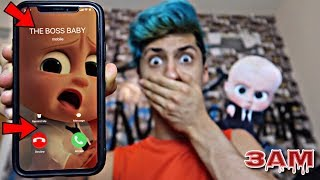DO NOT CALL THE BOSS BABY AT 3AM!! *OMG HE CAME TO MY HOUSE*