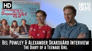 Bel Powley & Alexander Skarsgard Interview - The Diary of a Teenage Girl