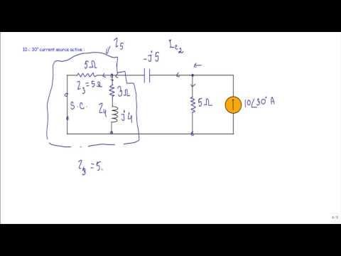 AC Circuit : Superposition Theorem