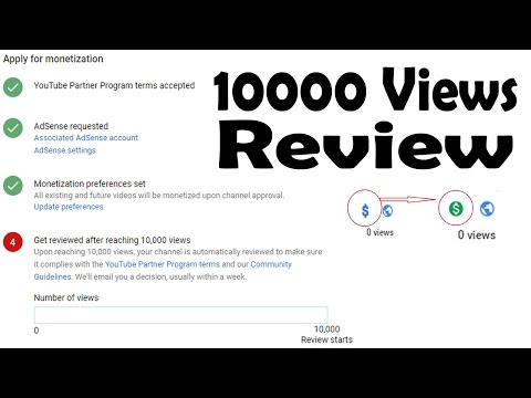 10.000 Views and Channel Review   YouTube AdSense Monetization Rules Changed 2017