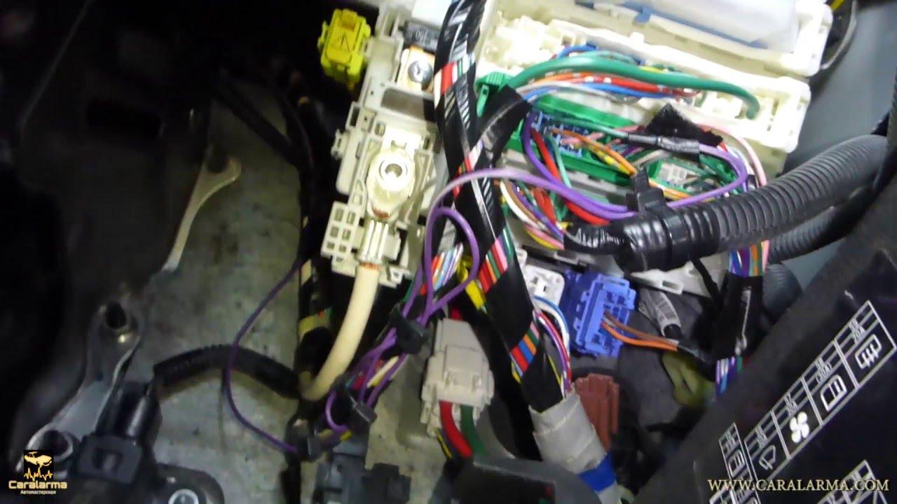инструкция подключения сигнализации шерхан с автозапуском на пежо 308