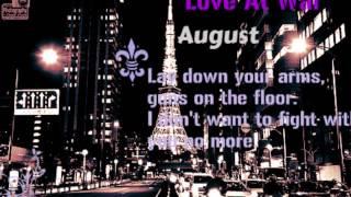 Watch August Love At War video