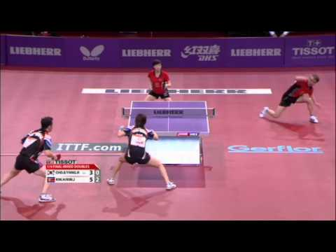WTTC 2013 Highlights: Cho Eon Rae/Yang Haeun vs Kim Kyok Bong/Kim Jong (1/4 Final)
