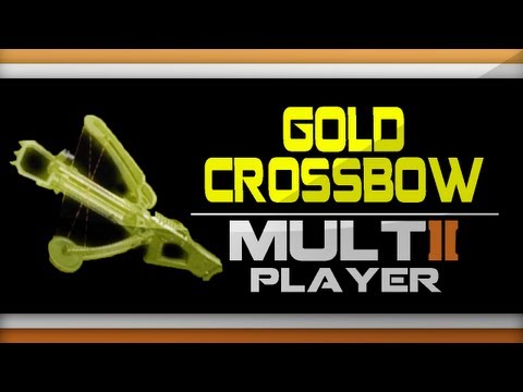 Black Ops 2 GOLD Crossbow Camo Gameplay Online - How to get Gold Crossbow Camo