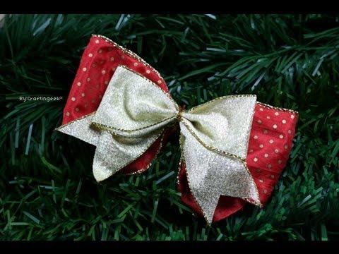 Como hacer mo o sencillo lazos decoraci n navidad - Decoracion arboles de navidad ...