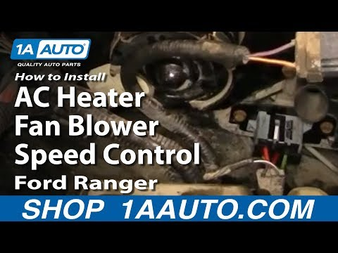 How To Install Replace AC Heater Fan Blower Speed Control Resistor 93-97 Ford Ra