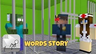 Monster School: WORDS STORY CHALLENGE-MINECRAFT ANIMATION