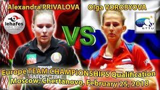 ETTU Alexandra PRIVALOVA - Olga VOROBYOVA Table Tennis