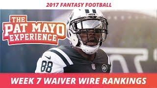 2017 Fantasy Football - Week 7 Waiver Wire Rankings, Injuries, Recap + MORE