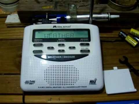 How To Run The Midland WR-120 Weather Radio Off The Harbor Freight Solar Panel Kit