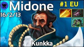 Midone [Secret] plays Kunkka!!! Dota 2 7.21