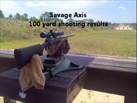 Savage Axis  .308 100 Yards Accuracy Review