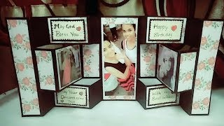 double tri shutter card|handmade birthday card ideas for  friend|how to make birthday cards