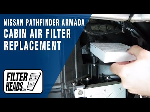 Cabin air filter replacement- Nissan Armada