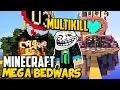 Minecraft BEDWARS #26: KRASSER MULTIKILL + MEGA MAP - 3 RUNDEN :D l GommeHD Bedwars