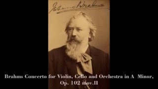 Brahms Concerto for Violin, Cello and Orchestra in A  Minor, Mov II