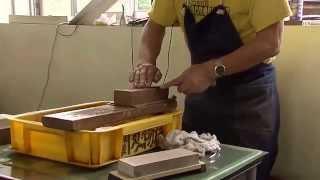 世界一を誇る日本の刃物が絶滅危機!正しい包丁の研ぎ方  Sharpening the way of correct knife