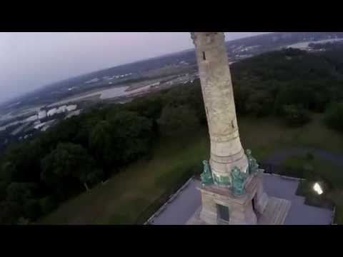 DJI Phantom FC40 Over East Rock Monument New Haven, CT