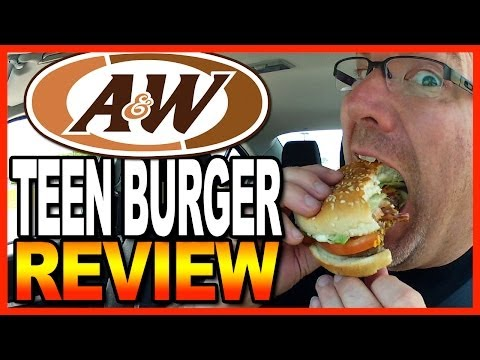 A&W Teen Burger Combo Taste Test & Review
