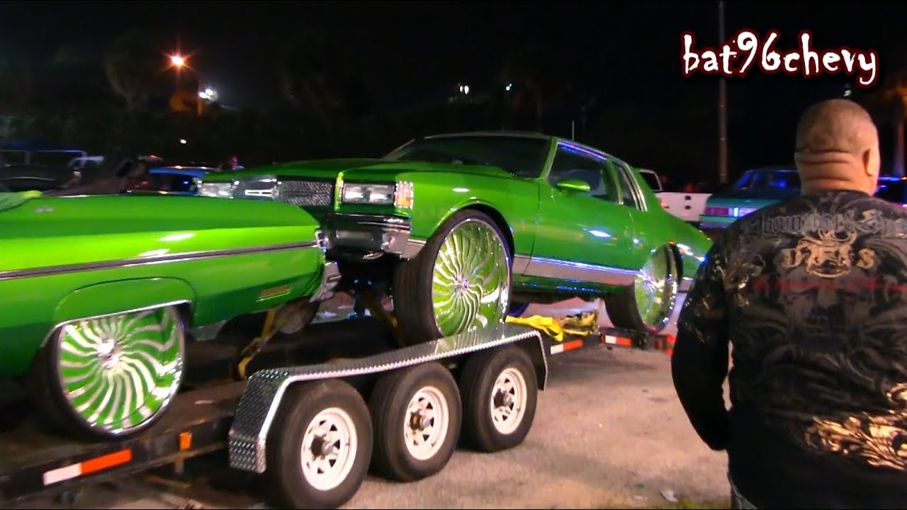 Car Show Customs Green Fleet Box Chevy On 32s 75 Donk