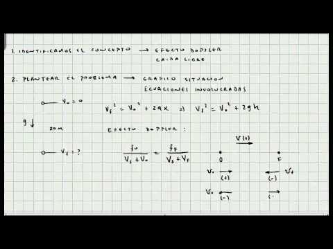 Ejercicio Efecto Doppler - Ondas Sonoras - Mi Profesor de Fisica - Video 056