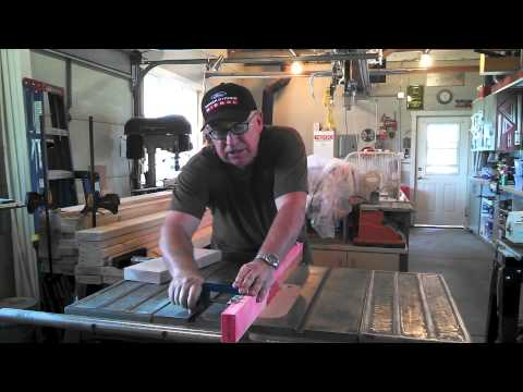 Edge Trimming Jig for Table Saw