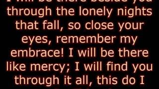 "Montecristo (Thomas Borchert) & Brandi Burkhardt - ""I Will Be There"" lyrics"