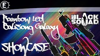 Balisong Galaxy/Rainbow Neon Led skins Sowcase | Black Squad HD