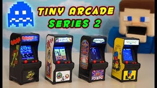 Tiny Arcade Video Games SERIES 2 - Pac Man, Dig Dug, Galaga, Frogger Unboxing PUPPET GAMING!