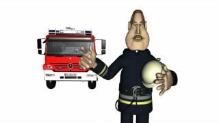 Cartoon: Verhalten im Brandfall