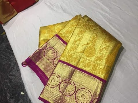 Latest Bridal Kanchipuram soft silk saree collections | Pure Kanchi Handloom Silk Saree Designs