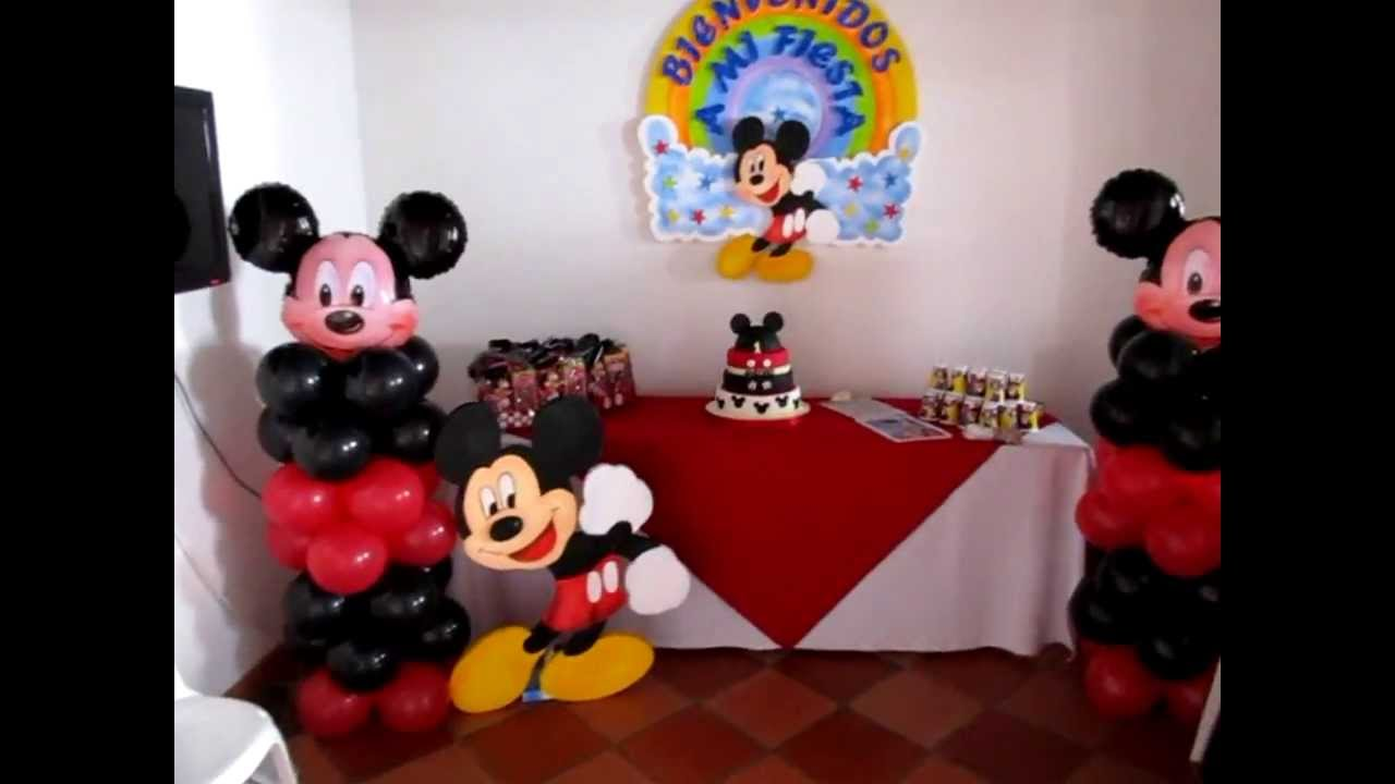 Decoracion Cumplea?os Mickey ~ DECORACION CON GLOBOS PARA CUMPLEA?OS MICKEY MOUSE  YouTube