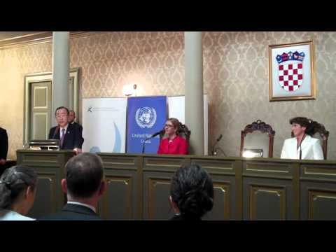 UN Secretary General Ban Ki-moon's address at the Zagreb Old Town Hall