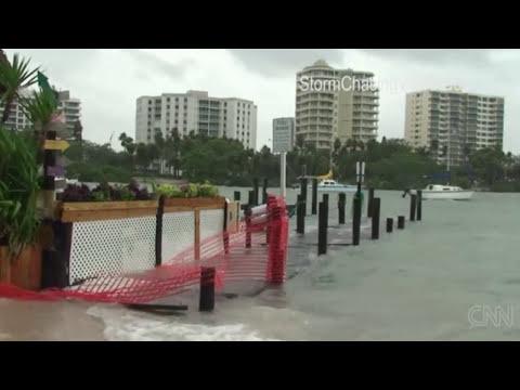 Tormenta tropical Debby afecta a Florida, EEUU desde el Golfo de Mexico (25-6-12) HD