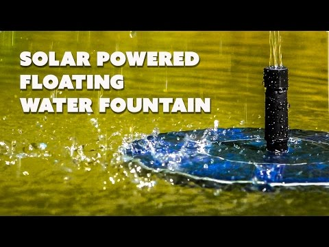 Solar Powered Water Feature. small  Floating Water Fountain by Ohuhu