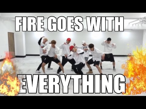 proof that BTS FIRE choreography goes with everything