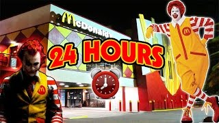 (GONE WRONG) 24 HOUR OVERNIGHT in MCDONALDS FORT | OVERNIGHT AT THE WORLD