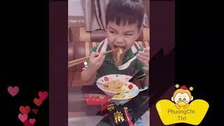 Bé yêu thi đua ăn mì tôm ♡ Nhạc thiếu nhi vui nhộn ♡ Phương Chi Tivi