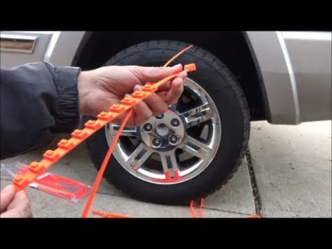 Zip tie snow chains How to Install, Uninstall, Review