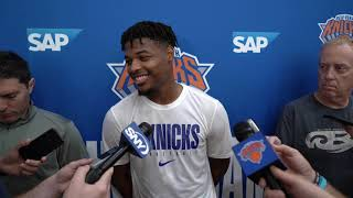 Knicks Training Camp 2019: Dennis Smith Jr. Speaks on Day 2