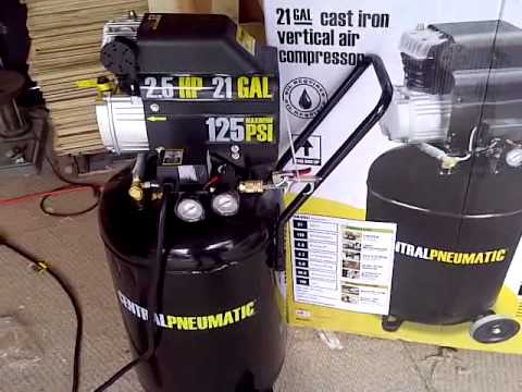 21 Gallon Air Compressor Set Up and Review Part 5