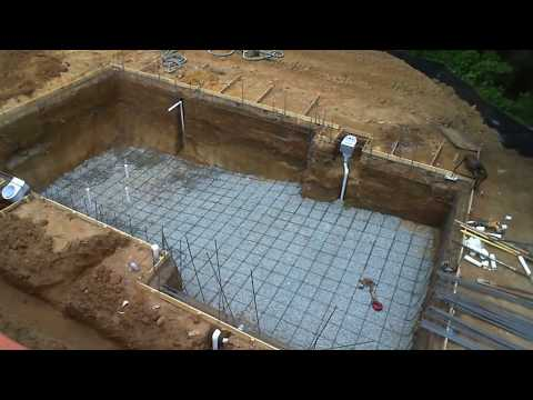 Inground swimming pool building process - step by step