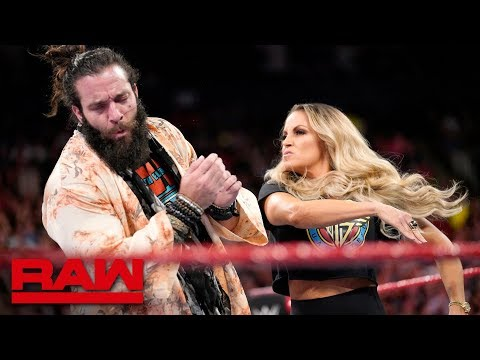 Trish Stratus interrupts Elias: Raw, Aug. 27, 2018 thumbnail